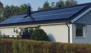 Solceller för villa