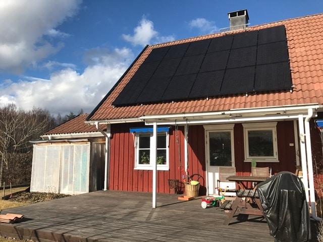 Solpaneler för villa i Karlstad