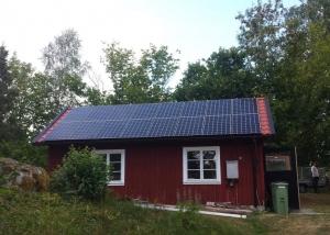 Solceller på fritidshus