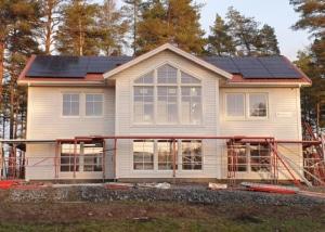Installation av solceller i Arboga