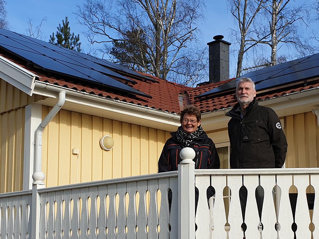 Solpaneler i Eskilstuna