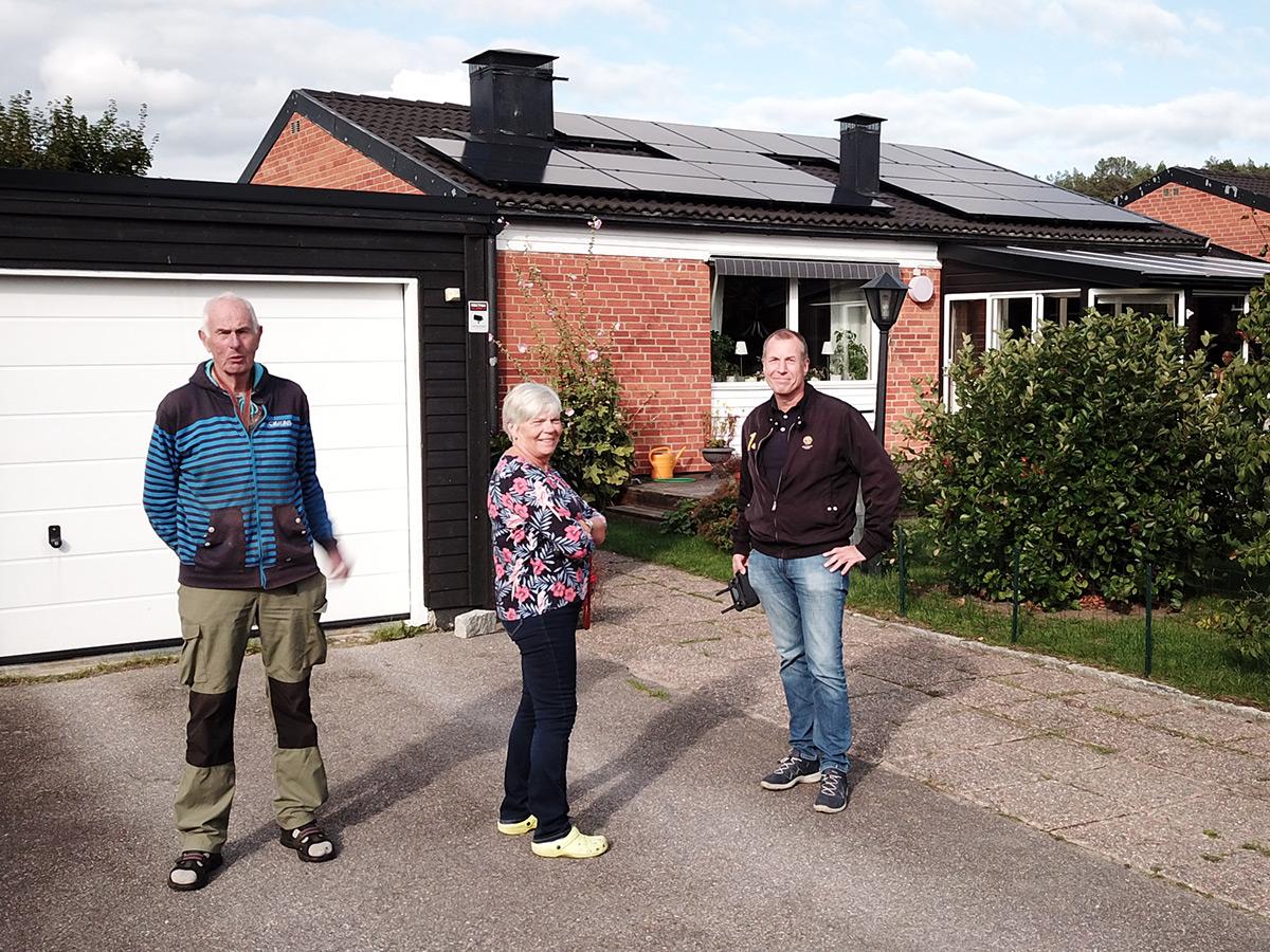 Solceller på villa i Köping